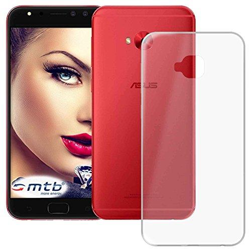 mtb more energy® Schutz-Hülle Clear und Slim für Asus Zenfone 4 Selfie Pro (ZD552KL, 5.5'') - transparent - flexibel - TPU Silikon Hülle Cover Tasche
