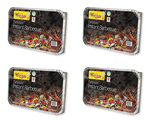 Holland Plastics Original Brand 4 X Größe der Familie Bar-Be-Quick-Quick Grill-Packs Jede Packung Feeds zu 10 Personen Beste Weltmarktführer Einweg-Grill