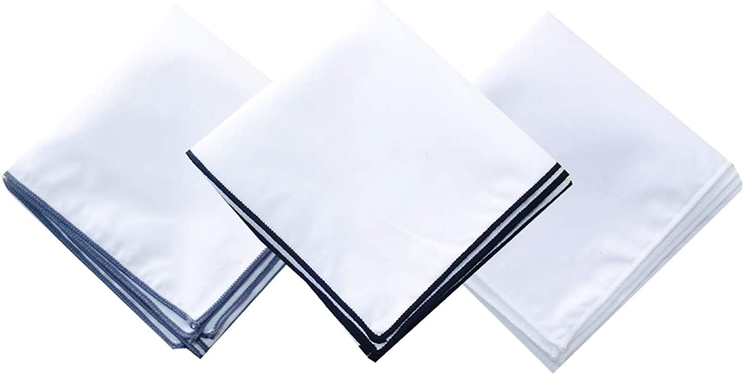 Men's White Cotton Handkerchief Quality inspection Max 62% OFF for suits Square Pocket