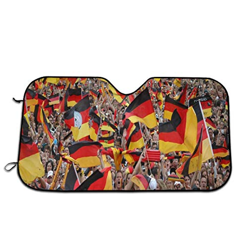 Windshield Sun Shade,Car Window Shade,Car Windshield Sun Shade Keep The Vehicle Cool and Prevent Sun Exposure is The Best Car Sun Shade for Windshield -Fans of The German Team