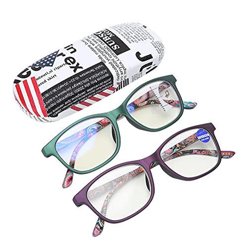 Yinhing Anteojos presbiópicos, Alivio de la Fatiga Visual Anteojos de Lectura multifocales Anteojos de Alta definición Rayos Azules Anteojos prebióticos Usados para Personas Mayores(01+150)