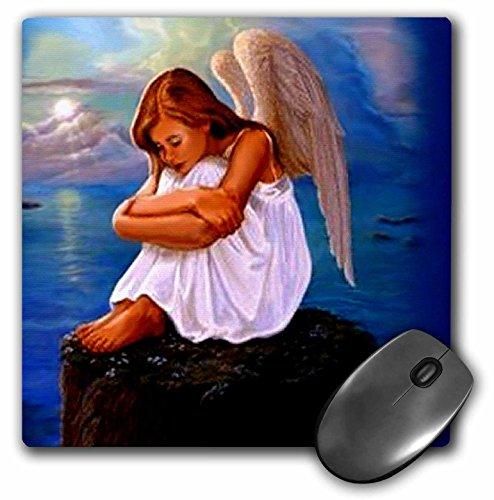 3dRose LLC 8 x 8 x 0.25 Inches Mouse Pad, Angel (mp_703_1)