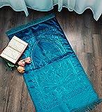 Ilm Verlag Tappeto ortopedico per preghiera con superficie platinica, colore: blu