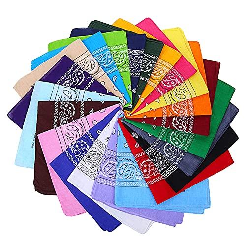 VIPITH - Bandane con stampa cachemire su entrambi i lati, unisex, confezione da 12 pezzi (colore casuale)