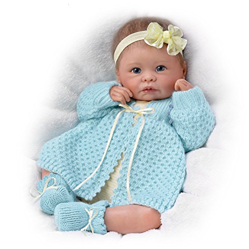 The Ashton-Drake Galleries Sweetly Snuggled Sarah So Truly Real Lifelike & Realistic Weighted Newborn Baby Doll...