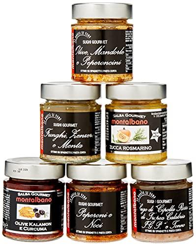 MONTALBANO Sughi Gourmet Miste 6 Vasi - 780 g