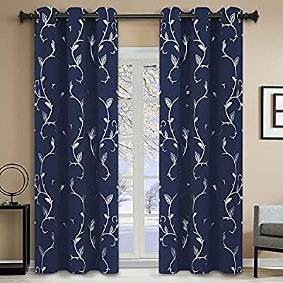 BUHUA Window Curtains and Drapes for Bedroom, 8...