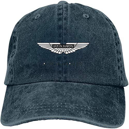 Gorra de béisbol Retro para Adultos Sombrero de Vaquero Deportivo Sombrero Unisex para Exteriores Sombrero de Camionero Negro Aston Martin Cars Logo Retro
