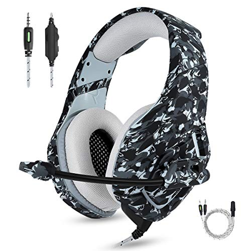 ENVEL Noise Cancelling Gaming Headset for Nintendo Switch/PS4,Surround Sound Stereo Volume Control One Key Mute,Gamer Omnidirectional Microphone Work for Xbox One S/PC/Laptop/Mac/PS3/Phone and More