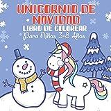 Unicornio de Navidad: Libro de Colorear Para Niños 3-8 Años