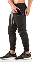 EVERWORTH Men's Workout Running Pants Casual Sporting Pant with Zipper Pockets