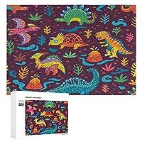 漫画のスタイルのパターンで恐竜 300ピースのパズル木製パズル大人の贈り物子供の誕生日プレゼント