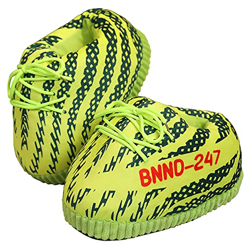 Unisex Funny Spoofing Sneaker Slippers Comfy Kicks Non-Slip Sole Funny Shoes - One Size Fits Most