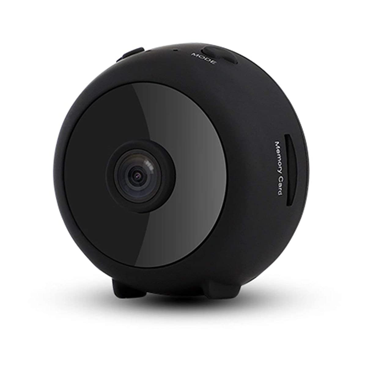 ミニIPカメラHD 1080PワイヤレスWifiカメラセキュリティカメラWi-Fiネットワーク-ブラック