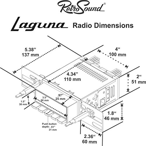 Retro Manufacturing Laguna Radio with Black Face, 03P-73P Knobs, and Vintage Dial Screen LAB-M1A-401-03P-73P-SCP