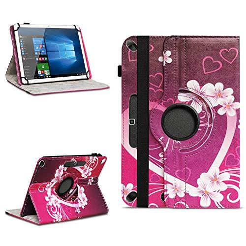 NAUC Schutzhülle kompatibel für Lenovo TAB3 10 Business/Plus Tablet Hülle aus hochwertigem Kunstleder Tasche Standfunktion 360° Drehbar Universal Hülle, Farben:Motiv 3