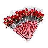 38 Stücke Rosen seife gastgeschenk Rot Fuchsia duftenden Rose Blütenblatt Bad Körper Seife...