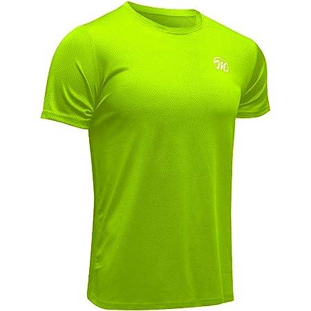 MEETWEE Men's Sport T-Shirt, Breathable Cool Dry Mesh Base Layer Tops Short Sleeve Running Top Gym Shirt