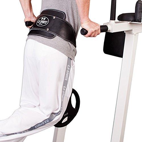 C.P. Sports Trainings Dip Gürtel Leder Gepolstert, Schwarz, One size, 38756 - 3