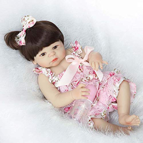 23' Real Life Silicone Vinyl Full Body Washable Newborn Baby Girl Dolls