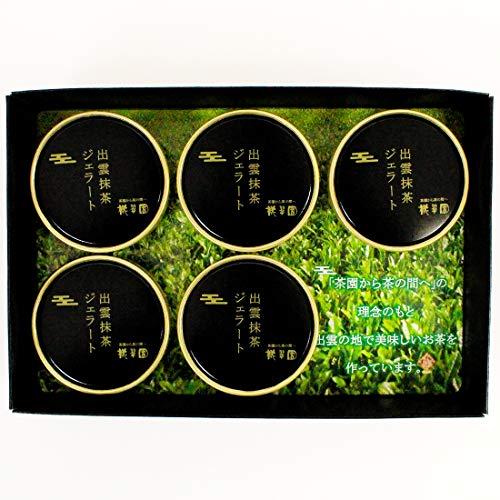 桃翆園高級抹茶出雲抹茶ジェラート100ml×5バレンタインスイーツギフトアイス