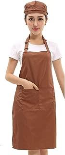 エプロンキッチンエプロンシェフエプロンが付いている綿の調節可能な専門のよだれかけバンドポケット女性焼ける耐久のバーベキューの洗濯できる機械-B 23x29inch