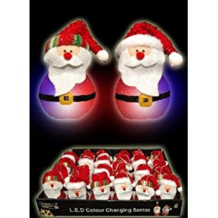 GLITTERED SANTA WITH FLASHING LIGHT:Maskedking