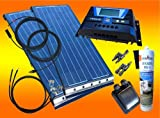 bau-tech Solarenergie 200Watt WoMo Solaranlage in schwarz für Wohnmobile, Boote, Camping u.v.m GmbH