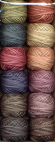 - Valdani Inc. J.Patton Hand-Overdyed Perle Cotton Thread Balls Size 12 Designer Set, 12/Pkg