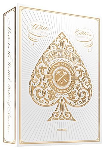 Theory11, 1 Mazzo di Carte da Gioco Collezione White Artisan