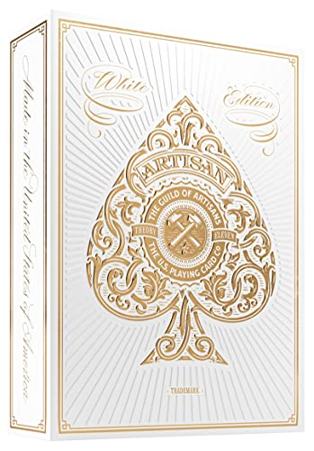 White Artisan Playing Cards By Theory11 (1 Deck)