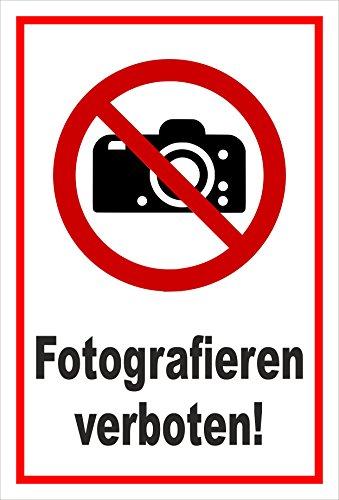 Melis Folienwerkstatt Adhesivo Señal De Prohibido–Fotografía. Cámara photographieren–entspr. DIN ISO 7010/ASR a1.3–s00355–033de B + + + en 20Variantes.