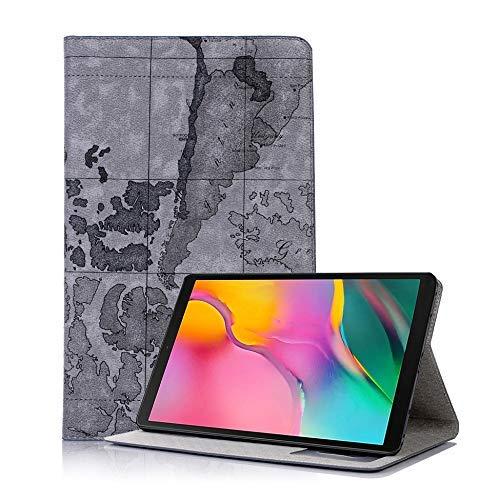 xtrafast Tasche Samsung Galaxy Tab A 10.1 T510/T515 Tablet Cover Hülle Case Leder Optik grau