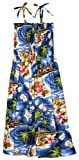RJC Women Hibiscus Hawaiian Island Elastic Tube Top Sundress in Navy Blue - XL