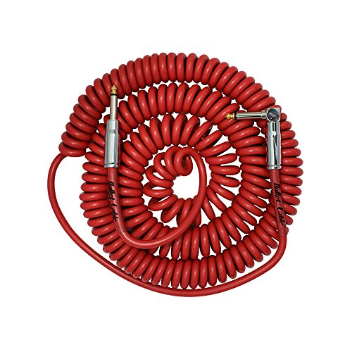 Bullet cable BC-30CCR Coil 30ft Kabel Straight/Angled Connector rot
