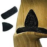 AMEYXGS 3pcs Archery Fur Flecha Resto Autoadhesivo Flecha Resto Autoadhesivo Flecha de Descanso para Arco Recurvo y Arco Tradicional (Negro)