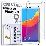 REY Protector de Pantalla para Huawei Honor 7A - Honor 7A Pro, Cristal Vidrio Templado Premium