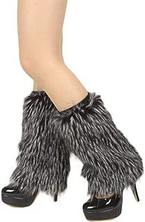 Women WARM SOFT COZY FUZZY Faux Fur Leg Warmer Boot Cuff Cover Costume Accessory