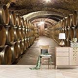 Fototapete Vlies Weinkeller 3D Wandbild Aufkleber Für
