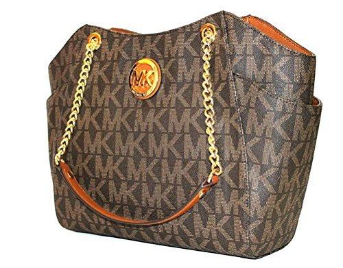 MICHAEL Michael Kors women's Jet set Travel large chain shoulder tote handbag