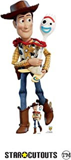 Star Cutouts SC1359 Woody & Forky Toy Story 4 Lifesize Cutout with Free Desktop Cardboard Standee 164cm Tall, Multicolour