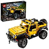 LEGO 42122 Technic Jeep Wrangler 4x4 Toy Car, Off Roader SUV Model Building Set