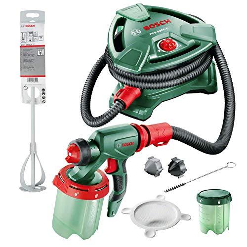 Bosch elektrisches Farbsprühsystem PFS 5000 E (1200 Watt, für Lack/Lasur/Wandfarbe, im Karton) + Zubehör 2607990024 Leichter Rührkorb 60 mm, 400 mm, 1-5 kg
