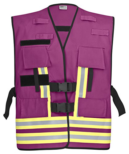 PACOTEX Funktionswesten zur Kennzeichnung von Einsatzpersonal wie z.B. Feuerwehr Warnweste (violett)