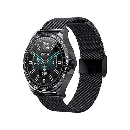 Garett Maya - Reloj inteligente para mujer, acero negro