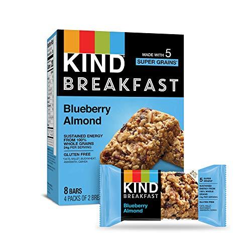 KIND Breakfast Bars Gluten Free Blueberry Almond 18oz Pack of 32