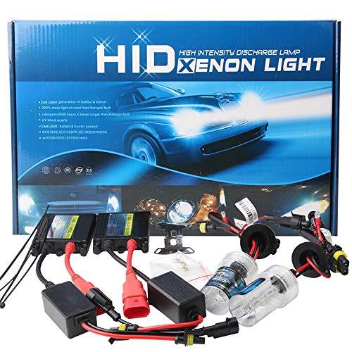 KaiDengZhe 2 Unids H1 HID Xenon Kit de Conversión + 55W Slim Ballast 12V 6000K Super...