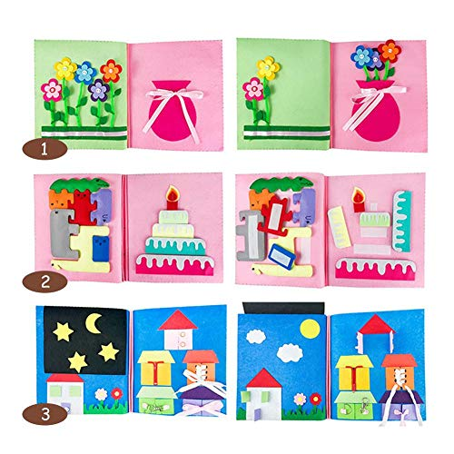 Feel-ling Enfants éducation précoce Livre en Tissu Non-tissé Tissu à la Main Tissu Bricolage matériel Jouet Fait Main Enfants Feutre Bricolage Cadre Bricolage matériel Paquet