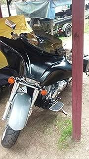 USA F15-1SB+F20 Painted Vivid Black Batwing Fairing Windshield 4 Yamaha ROADSTAR Road Star 1600 1700 XV 99-09 Fiber 6X9 Speaker Holes