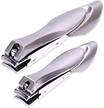 H&S Nail Clippers 2 Pcs Nail Cutter Set Toenail Fingernail Clippers Kit with Catcher File for Thick Nails Men Women